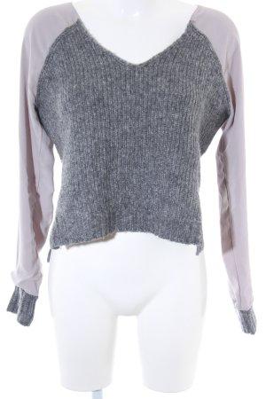Replay V-Ausschnitt-Pullover grau Casual-Look