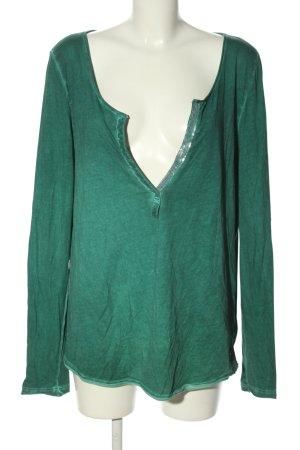 Replay V-Ausschnitt-Shirt grün meliert Casual-Look