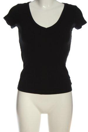 Replay V-Ausschnitt-Shirt schwarz Casual-Look