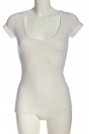 Replay V-Neck Shirt white themed print casual look