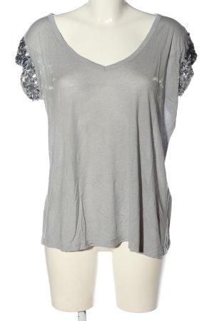Replay V-Ausschnitt-Shirt hellgrau Casual-Look