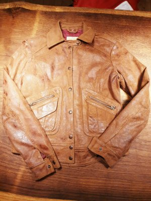 Replay Leather Blazer brown