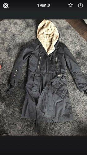 Replay Hooded Coat black