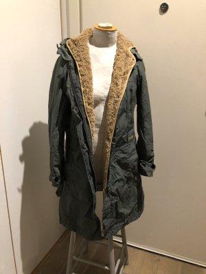 Replay Cappotto con cappuccio grigio scuro-marrone chiaro