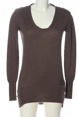 Replay Wollpullover braun meliert Casual-Look