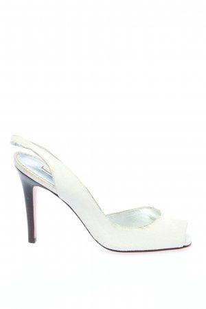 Report signature Slingback Pumps white business style