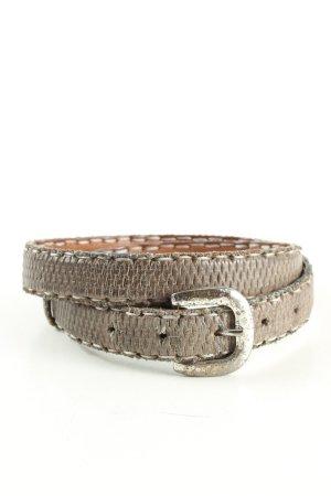 Reptile's House Cintura di pelle grigio chiaro-crema stile casual