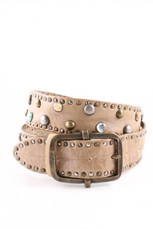 Reptile's House Studded Belt nude casual look
