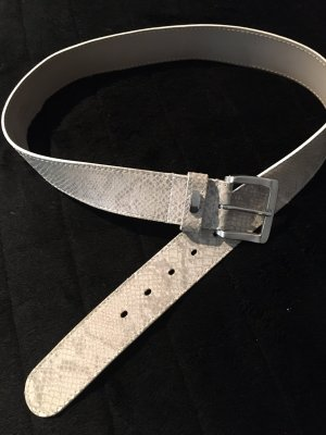 Mabel The Belt Leather Belt light grey-silver-colored