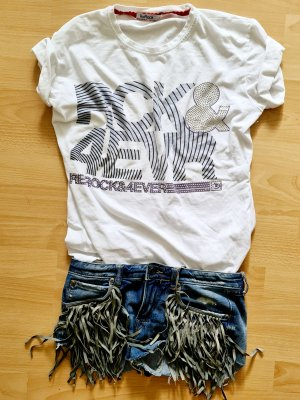 ReRock Rock 4 ever strass shirt tee Ibiza rocker