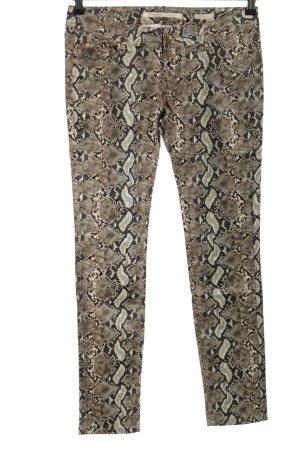 Resalsa Spodnie z pięcioma kieszeniami Zwierzęcy wzór Ekstrawagancki styl