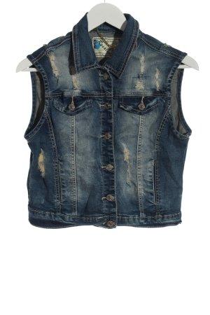 Resalsa Gilet en jean bleu style décontracté