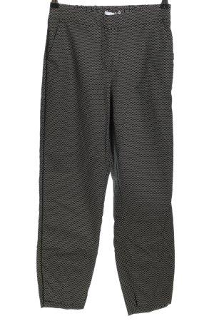 Reserved Stoffhose schwarz-weiß Allover-Druck Casual-Look