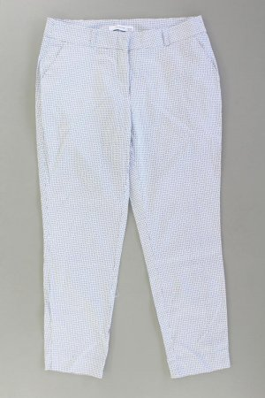 Reserved 7/8 Hose Größe 38 geometrisches Muster weiß aus Baumwolle