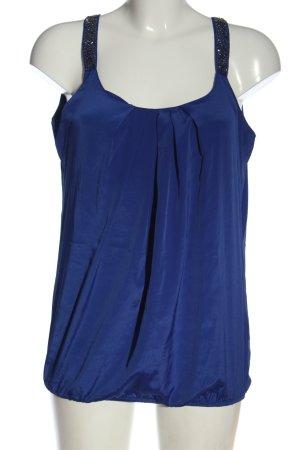 Reserved ärmellose Bluse blau Elegant