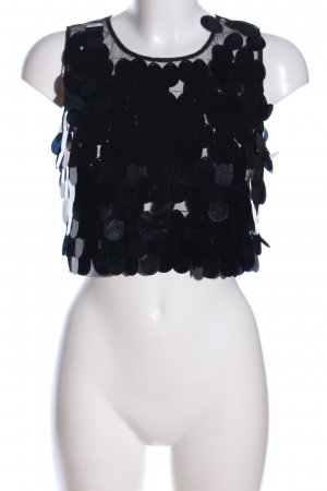 Reserved ärmellose Bluse schwarz Casual-Look