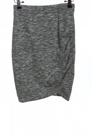 Reserved Asymmetry Skirt light grey flecked casual look