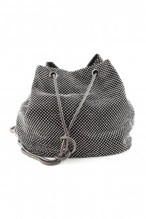 Reserved Pouch Bag silver-colored-black spot pattern casual look