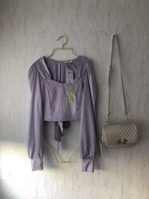Reserved Koszula o skróconym kroju liliowy