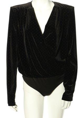 Reserved Blusen-Body schwarz Punktemuster extravaganter Stil