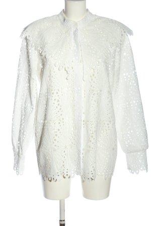 Reserved Blusenjacke weiß Casual-Look