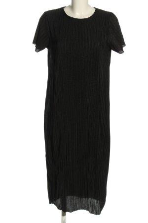 Reserved Blusenkleid schwarz Streifenmuster Casual-Look