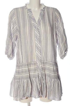 Reserved Blusenkleid wollweiß-schwarz Streifenmuster Casual-Look