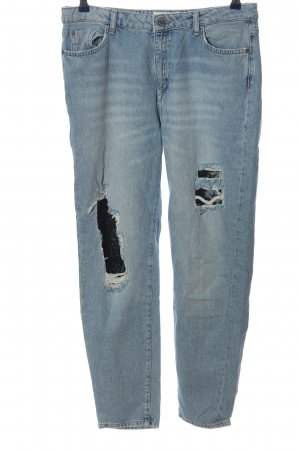 Reserved Boyfriendjeans blau Casual-Look