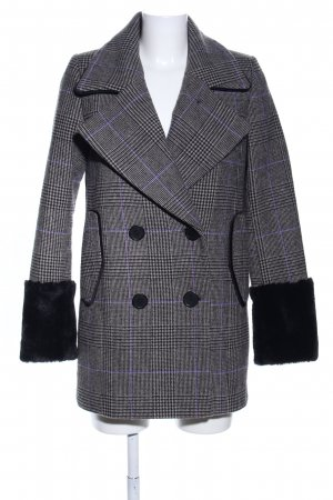 Reserved Heavy Pea Coat light grey-lilac allover print business style