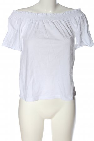 Reserved Camisa tipo Carmen blanco-negro look casual