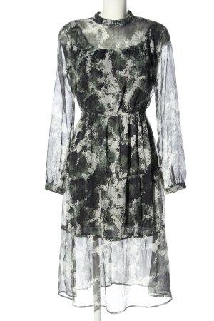 Reserved Vestido de chifón estampado repetido sobre toda la superficie elegante