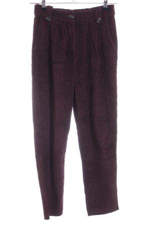 Reserved Pantalon en velours côtelé violet style décontracté