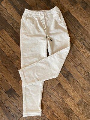 Reserved Pantalone di velluto a coste bianco-bianco sporco Velluto a coste
