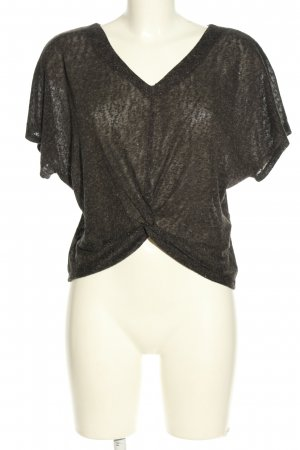 Reserved Cropped shirt lichtgrijs gestippeld casual uitstraling