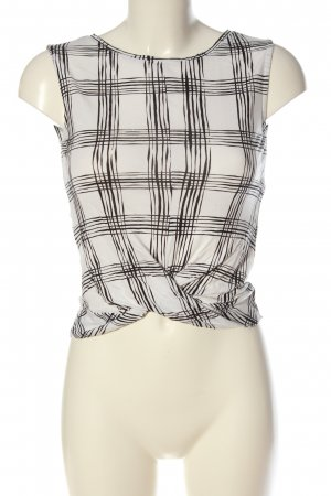 Reserved Cropped top wit-zwart volledige print casual uitstraling