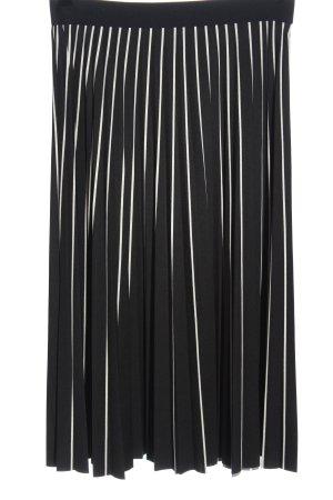 Reserved Plisowana spódnica czarny-biały Na całej powierzchni W stylu casual