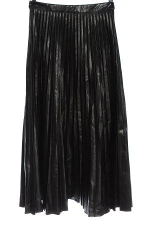Reserved Falda a cuadros negro estampado a rayas elegante