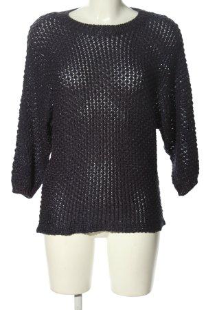 Reserved Szydełkowany sweter czarny W stylu casual