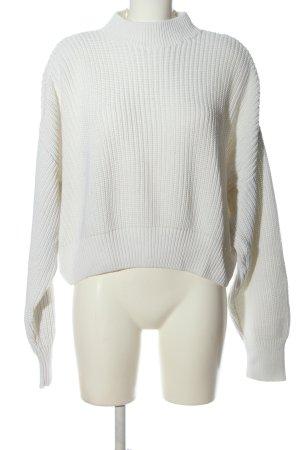 Reserved Pull en crochet blanc style décontracté