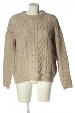 Reserved Crochet Sweater natural white cable stitch casual look