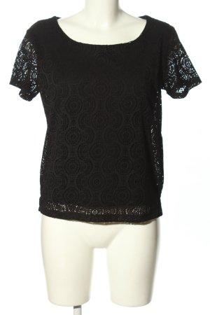 Reserved Crochet Shirt black business style