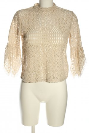 Reserved Crochet Shirt natural white casual look