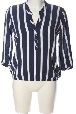 Reserved Hemd-Bluse blau-weiß Streifenmuster Business-Look