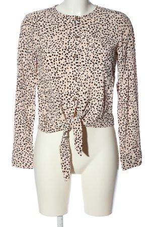 Reserved Hemd-Bluse creme-schwarz Allover-Druck Casual-Look