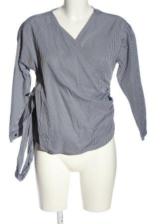 Reserved Hemd-Bluse schwarz-weiß Allover-Druck Casual-Look