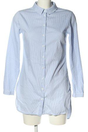 Reserved Hemdblusenkleid blau-weiß Streifenmuster Casual-Look