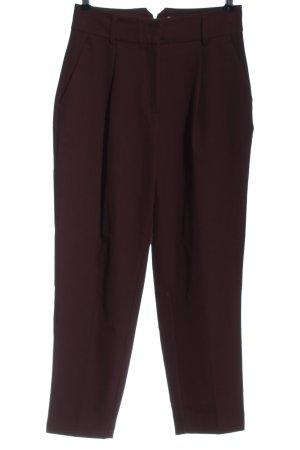 Reserved Pantalon taille haute brun style décontracté
