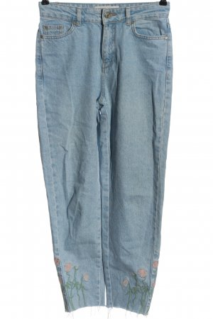 Reserved Jeansy z wysokim stanem niebieski W stylu casual