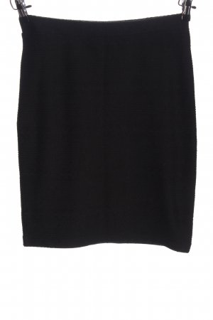 Reserved High Waist Rock schwarz Business-Look