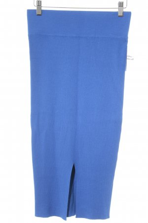 Reserved High Waist Rock neonblau Casual-Look